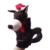 Christmas Wolf Puppets Plush Hand Puppets,Stuffed Doll,Glove-puppet Toys For Kids Talking Props  Chirstmas Day Gifts