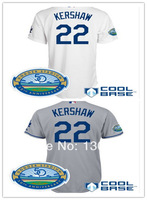 Cheap LA Los Angeles Dodgers #22 Clayton Kershaw Baseball Jersey W50th Anniversary Authentic Onfield Cool Base Jersey,Embroidery