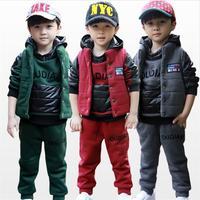 2013 new Korean boy 's clothes to keep warm sweater coat thick qiu dong Tong Set Parure