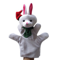 Christmas Rabbit/Hare Puppet Plush Hand Puppets,Stuffed Doll,Glove-puppet,Plush Marionette Toy Talking Props  Chirstmas Day Gift