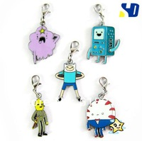 10 set = 50pcs adventure time Finn and jake metal ring keychan toy action  Figure set  AD20