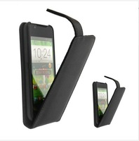 2014 Free Shipping Up Down Open Flip Leather Case Cover For Lenovo A859 Phone Free Drop Shipping