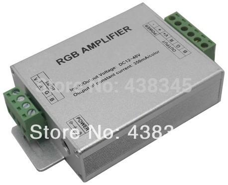 New 2014 LED RGB Amplifier DC 12V Rgb Led Amplifier Power Repeater LN-ZJFJ-350mA-3CH-LV For Led RGB Strip Use Free Shipping(China (Mainland))