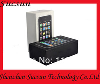 New packing Package Box case For iphone 3gs With sim pin and manual EU Version package boxes 50pcs/lot