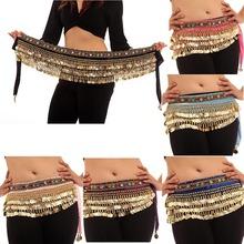 Trajes de dança do ventre 248 moedas de veludo Hip envoltório do lenço Belt saias Dancewear gratuito e DropShipping(China (Mainland))