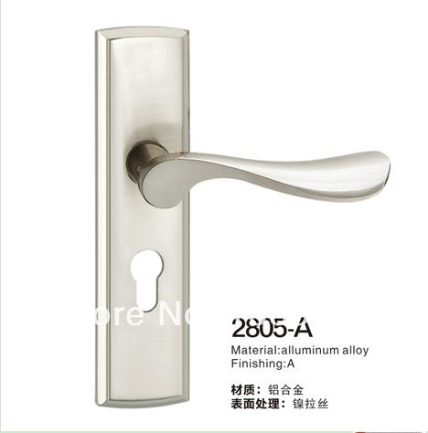 Free Shipping Special bathroom door handle accessories bedroom door handle mechanical Alluminum Alloy locks Furniture Small lock(China (Mainland))