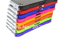 Elementing carbon fiber screw metal bumper case for iPhone 5