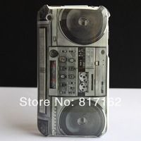 Free Shipping + Retro Radio Player Design Hard Plastic Mask Skin Cover Case For Apple iPhone 3G 3GS Hotsale + Screen Protector