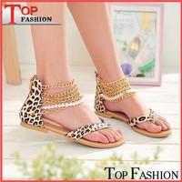 2014 New arrival Elegant Sweets Fashion Summer Women's Sandals Yellow Leopard Hoof Heels Womens sandals Size 34-40