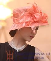 Free Shipping High Quality Women Hat Organza Hat Casual Dress Organza Fabric Flower Wedding Dress Organza Bow