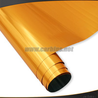 Orange Stretchable chrome mirror  film vinyl wrapping for car  high quality! 1.52*20m