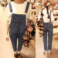 2014 free shipping 173 l208 ! suspenders casual denim pants