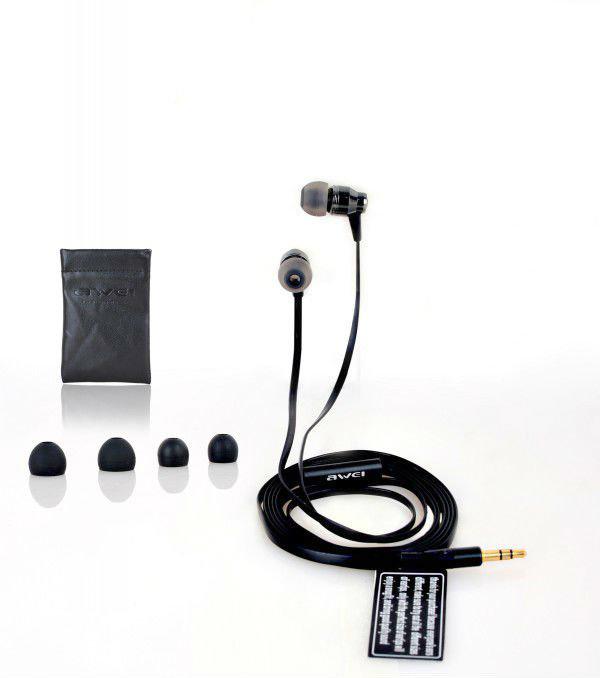 Наушники для мобильных телефонов Awei ES800M 3,5 петля резиновая starfit es 801 цвет черный 208 х 8 3 х 0 5 см