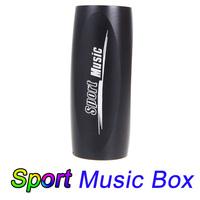 Portable Sports Music Sound Box Mini Bicycle Bike MP3 Player Speaker FM Radio Micro SD/TF Black