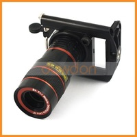 For Mobile Phone 8x Zoom Optical Lens Telescope Lens With Universal Clip Eightfold Magnifier and Holder