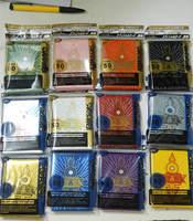 KMC 10Packs/lot (500pcs) YuGiOh card sleeves ZEXAL / 5DS / Board games card protector 50 sleeves/bag free shipping