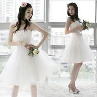 On sale 2014 new spring bride princess short design dress tube top one-piece dress fashion wholesale bridesmaid cheap dresses