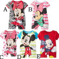 Free Shipping Children Wear infant Kids micky design short sleeve Baby Romper