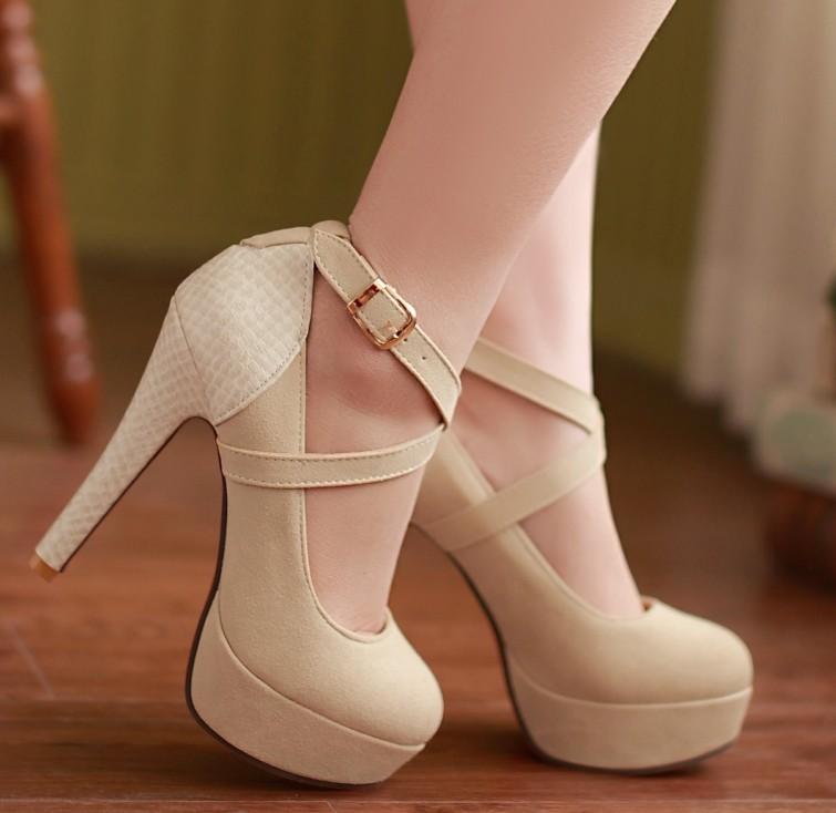 ENMAYER 2014 fashion platform pumps sexy high-heeled shoes heels round toe platform shoes women's Wedding Prom Shoes size 34-42(China (Mainland))
