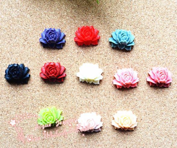 50PCS/Lot 11 colors 25*20mm resin Chrysanthemum flower Cameos,DIY Flower Cabochons.Free Shipping(China (Mainland))