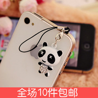 Free shipping 3005 rhinestone  for apple   iphone4 4s 5s  for SAMSUNG   general mobile phone dustproof plug headphones