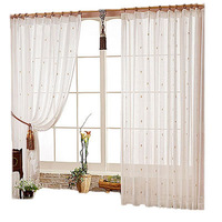 free shipping Small scissors flower curtain modern sheer curtain  finished product