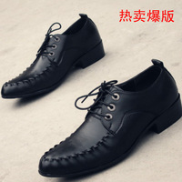 The trend of classic fashion pointed toe male casual leather business formal leather men's