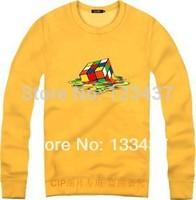 2014 New Hip Hop Big Bang Theory Sheldon Cube Men Women Loose Long Sleeve Hoody And Sweatshirt Cotton Skateboard Pullover Coat