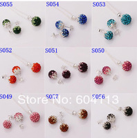 A27 // Big promotion 925 jewelry Chain silver plated sets, wholesale fashion hot sale Crystal Earring Pendant Necklace set