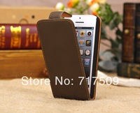 High quality Classic vertical leather flip case cover for iphone 5C