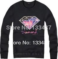 2014 New Brand Harajuku Star supreme diamond Men Women Loose Long Sleeve Hoody And Sweatshirt Cotton Hip Hop Sports hoodies