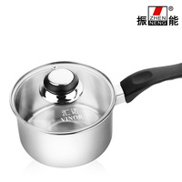 Rods cooking pots and pans 304 stainless steesoup pot instant noodles pot hot single handle milk pot 14cm