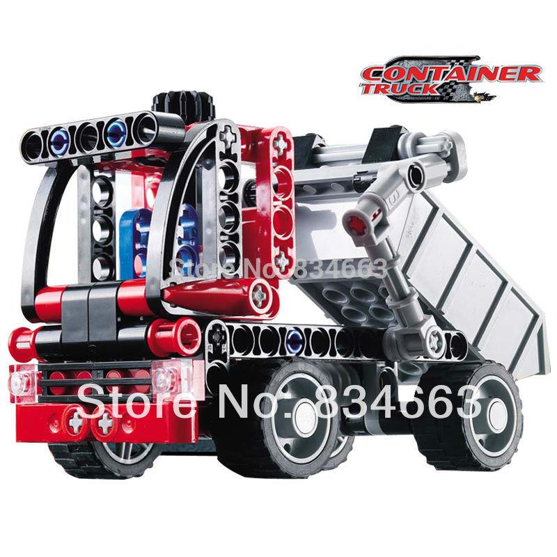 Decool 3345 Transport Container Truck Car 230pcs Car Model Building Block Sets Educational DIY Bricks Toys(China (Mainland))
