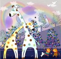 diy 5d Round Diamond Paintings Animal Giraffe Cartoon 3d Cross Stitch Embroidery Kits Rhinestone Pasted Pictures Kids Room Decor