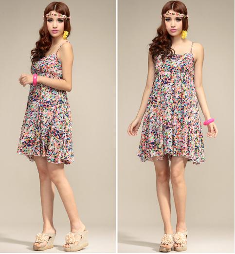 Dress Code Floral Floral Bohemian Dress