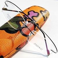 Fashion non-screw myopia frame rimless eyeglasses  frames memory titanium optical spectacle frame glasses