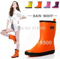 Free Shipping Brand New Women Fashion Rainboots Waterproof Rubber Patchwork Rain Boots Water Shoes Short Wellies #TS36
