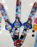 500pcs/lot! 2014 Fashion Movie Character Super Man Cartoon Slap Watch Silicone Rubber Wrist Watch A3217 Free Shipping