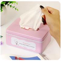 Pumping pumping paper tissue box carton box European fashion creative lovely home Kleenex box