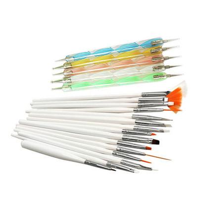 Free shipping 20 pcs Nail Art Design Set Dotting Painting Drawing Polish Brush Pen Tools(China (Mainland))
