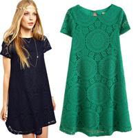 2014 Spring Summer Women New Fashion Vintage Bohemian Lace Plus Size Black White Dress Party Evening Elegant Club Midi Vestidos