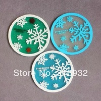 C6 Snowflake Silicone STARBUCKS drink cup mat coaster 10pcs/lot free shipping