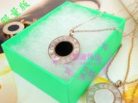 Limited edition unique fashion aesthetic fashion shell necklace female 7building logo circle pendant gift