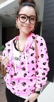 free shipping! spring s women'skull neon colorSun protection clothing Short jacket