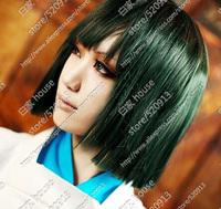 spirited away  Haku Free shipping Green short straight hair wig Japanese anime character wig role playing