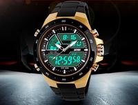 New arrival 2014 watch men luxury original brand SKMEI ,50M waterproof TOP quality quartz digital military wristwatch