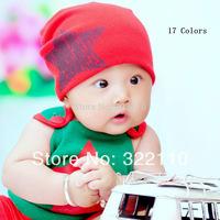 2014 New 7M-36M baby's Hats Children's Caps Infant Skull Stars Toddler Beanie Boys/Girls Cap 17 Colors MOQ 1pc