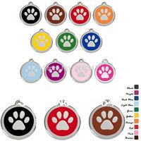 Free Shipping pet tag mix colors 30*30mm Pet Products 300pcs/lot dog paw shaped tags Pet ID Tags custom dog cat tag