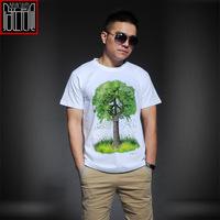 3D Tree print mens t shirts summer fashion cotton casual male tee shirt camisa masculina men sportswear M L XL XXL drop shipping