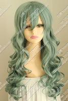 Free shipping Romantic curly hair wig Cos wig harajuku Japanese Celadon ringlet Lucky Dog1 Bernardo/B tertiary mixed color